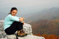Молодая женщина внешняя стоковое изображение rf