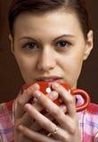 Выпивать молодых женщин Стоковое фото RF