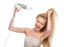 Молодая женщина высушивать Стоковая Фотография RF