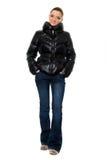 Молодая женщина в джинсы стоковая фотография