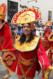 Молодая женщина в костюме масленицы Стоковая Фотография RF