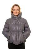 Молодая женщина в куртке стоковое изображение rf