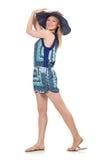 Молодая женщина в моде Стоковое фото RF