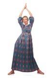 Молодая женщина в моде Стоковое Изображение RF