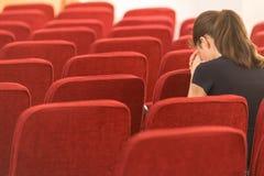Молодая женщина в молитве Стоковая Фотография RF