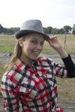 Молодая женщина в природе Стоковая Фотография