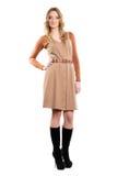 Молодая женщина в платье стоковая фотография rf