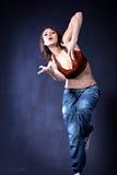 Девушка танцульки Стоковое Изображение