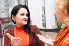 Молодая женщина говорит подругу Стоковые Изображения