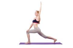 Молодая женщина делая тренировки Стоковые Фото