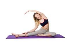 Молодая женщина делая тренировки Стоковое Изображение RF