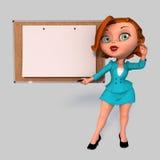 Молодая женщина дела иллюстрация вектора