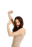 Молодая женщина защищая Стоковая Фотография RF