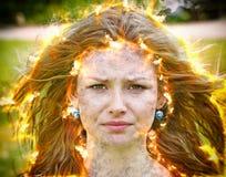 Молодая женщина имеет проблему стоковые изображения rf