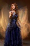 Молодая женщина красоты, крупный план, реальная девушка красоты стоковая фотография rf