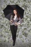 Молодая женщина миллиардера стоковые фотографии rf