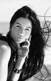 Молодая женщина на море Стоковые Фото