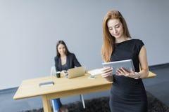 Молодая женщина на офисе Стоковая Фотография