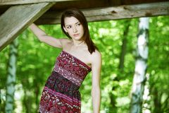 Молодая женщина портрета красивая Стоковые Изображения RF