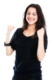 Молодая женщина пробивая воздух Стоковое Фото