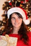 Молодая женщина рождества Стоковые Фото