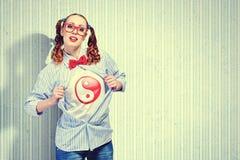 Молодая женщина супергероя стоковые фотографии rf