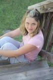 Молодая женщина счастливая Стоковые Изображения RF