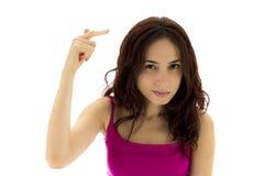 Молодая женщина считает кто-то умалишённый. стоковая фотография rf