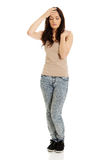 Молодая женщина с лихорадкой Стоковое фото RF