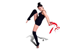 Женщина гимнаста Стоковое фото RF