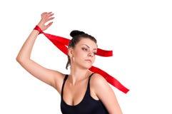 Женщина гимнаста Стоковое Изображение RF