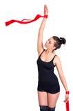 Женщина гимнаста Стоковые Изображения RF