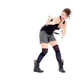 Молодая женщина с рогаткой Стоковая Фотография RF
