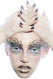 Молодая женщина с терниями на стороне Стоковое Фото