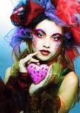 Молодая женщина с шоколадом стоковое изображение rf