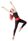 Молодая женщина танцев стоковые фото