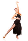Молодая женщина танцев стоковое изображение rf