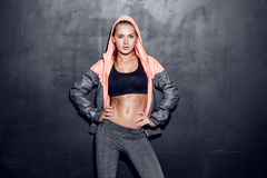Молодая женщина фитнеса Стоковое Изображение RF