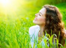 Молодая женщина Outdoors Стоковое Изображение