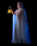 Молодая изолированная девушка эльфа Стоковые Фотографии RF