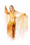 Молодая исполнительница танца живота Стоковые Изображения