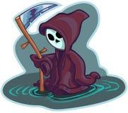 Молодая иллюстрация шаржа вектора мрачного жнеца Стоковые Фотографии RF