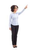 Молодая красивая Афро-американская бизнес-леди указывая на некоторое Стоковое Изображение RF