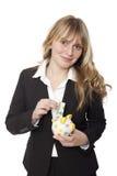 Молодая красивая белокурая с волосами бизнес-леди стоковая фотография