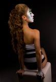 Молодая красивая девушка с творческим составом Стоковое Изображение