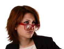 Молодая красивая женщина с выражением лица Стоковая Фотография RF