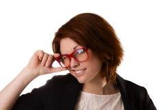 Молодая красивая женщина с выражением лица Стоковое Фото