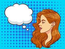 Молодая красивая женщина хочет сказать секрет Бесплатная Иллюстрация