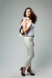 Молодая красивая коммерсантка в вскользь одеждах Стоковое Изображение