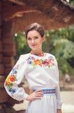 Молодая красивая украинская женщина Стоковая Фотография